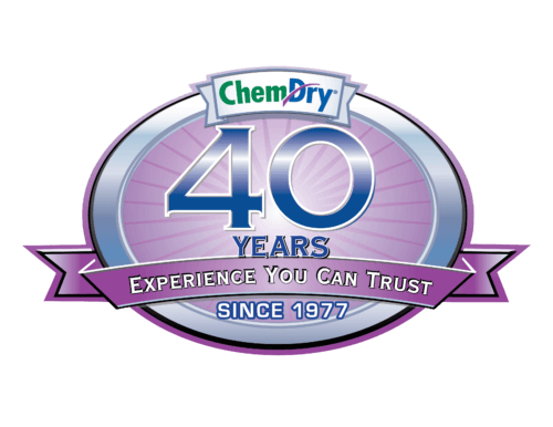 40 years of carpet cleaning experience graphic