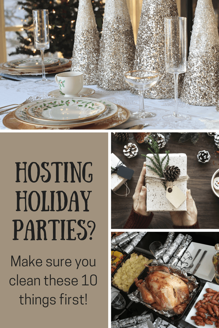 Hosting holiday parties? don't forget to clean these ten places!